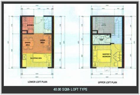 40 sqm to sqft model house plans 40 sqm house plans