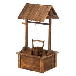 wooden wishing well garden planter yard ebay