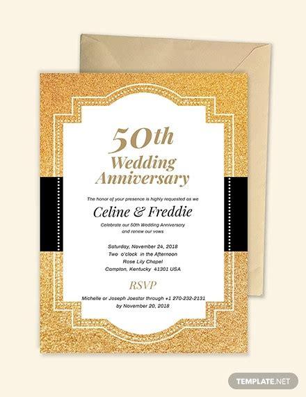 22 Anniversary Invitation Templates Psd Ai Word Free Premium Templates Wedding Anniversary Invitation Templates