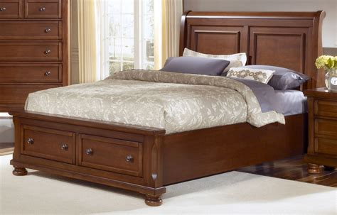 all american reflections eastern king sleigh storage bed