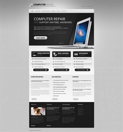 Black And White Website Templates Why Are They So Cool White Website Templates