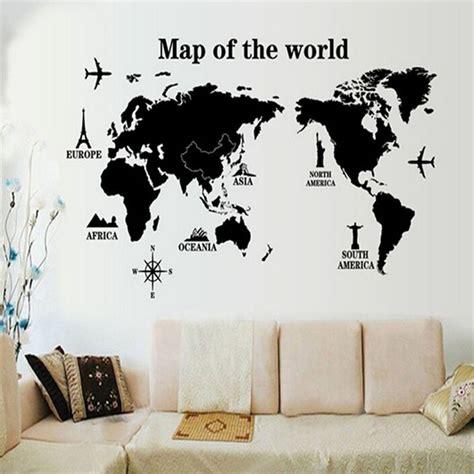 Stciker Wallpaper Dinding sticker wallpaper dinding world map jakartanotebook