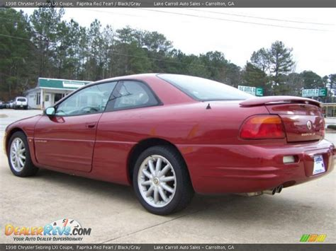 1998 Chrysler Sebring Lxi by 1998 Chrysler Sebring Lxi Coupe Paprika Pearl Black