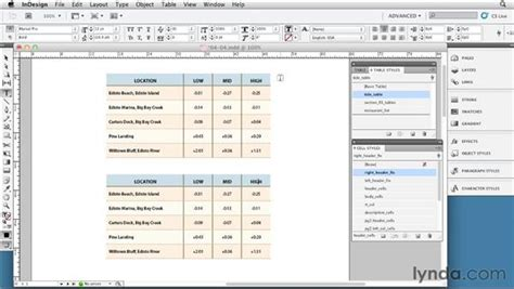 indesign tutorial on tables using cell styles to quot clean up quot table styles