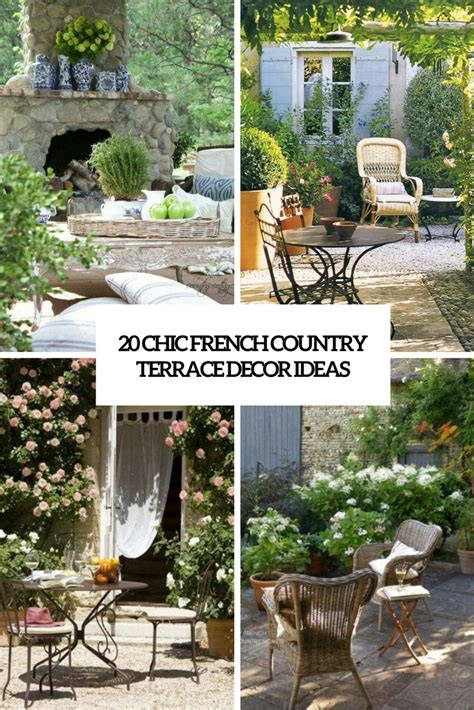 Interesting French Country Patio Decor Ideas   Patio