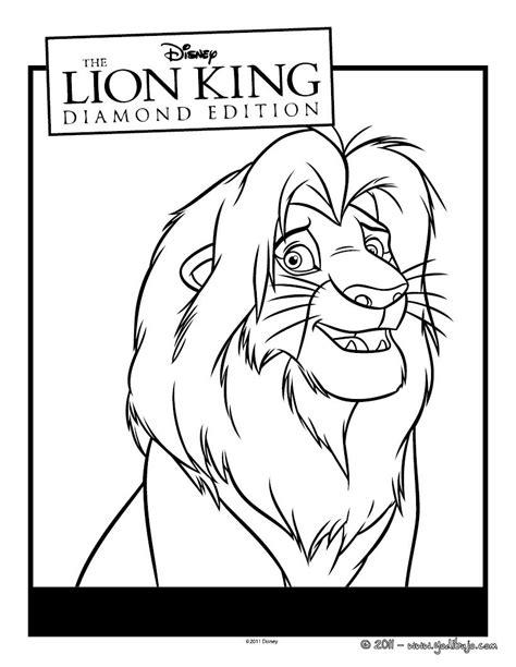 dibujos para colorear de leones actividades infantiles y dibujos para colorear mufasa es hellokids com