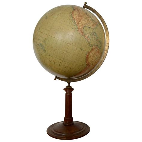 large german globe on stand berlin circa 1900 for sale