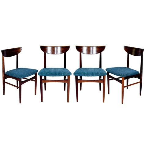set of 4 rosewood dining chairs for sale at 1stdibs