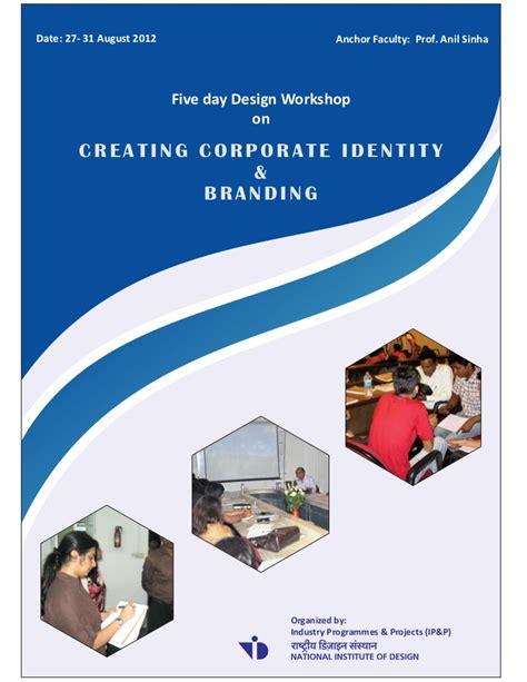 brochure for design workshop on creating corporate