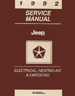 service manual how to install 1992 jeep comanche springs rear jcroffroad now offers a rear 1992 jeep repair shop manual set original comanche cherokee wrangler