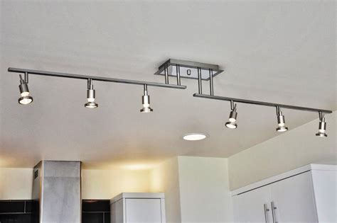 Led Track Lighting Kitchen Track Lighting Lowes Nth Monorail Spire Rail Kit By Tech
