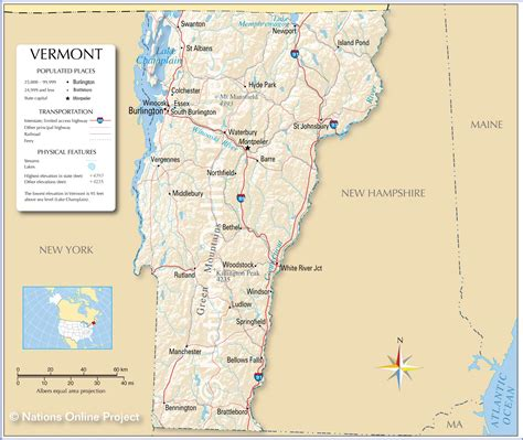 maps of vermont maps us map vermont