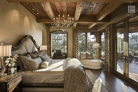 Rustic Master Bedroom | rustic bedrooms design ideas canadian log homes