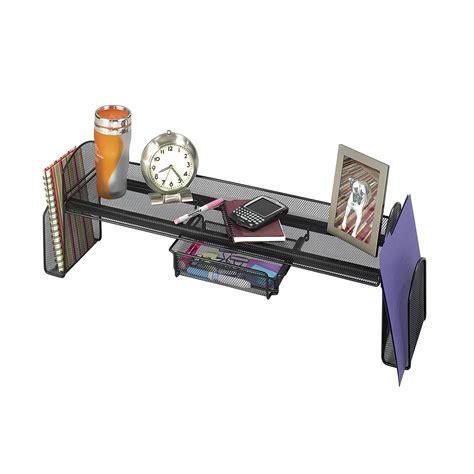 desk organizer shelf safco onyx surface shelf desktop organizer at hayneedle
