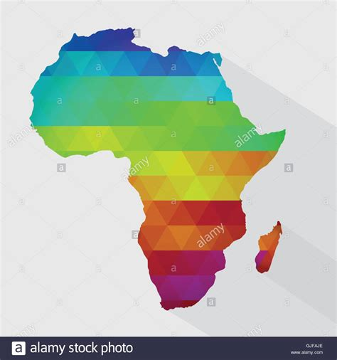 colors of africa africa map continent stock photos africa