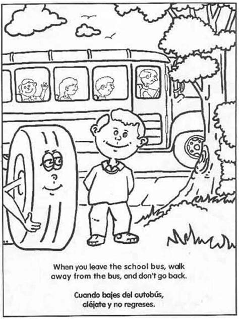 coloring pages for school bus safety school bus safety coloring pages free printable school