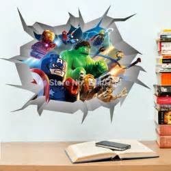 Lego Wall Stickers For Kids Rooms Online Buy Wholesale Superhero Stickers From China