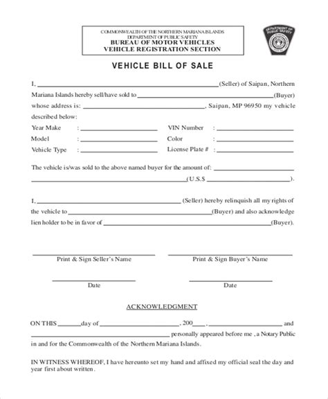 dealer bill of sale hunecompany com