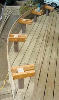 profitable curved benches professional deck builder