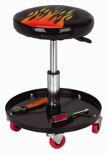 pneumatic roller seat harbor freight pneumatic adjustable roller seat with flames stool