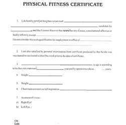 search results for medical fitness certificate
