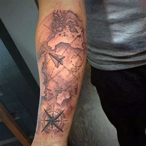map tattoo sleeve 75 travel tattoos for adventure design ideas