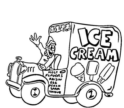 ice cream truck coloring page ice cream truck printable coloring pages coloring pages
