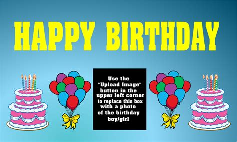 happy birthday corner design custom birthday vinyl banners custom birthday vinyl signs