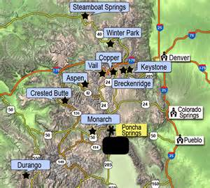map colorado ski areas vacations to colorado ski center ski vacations