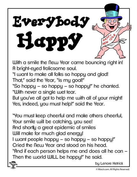 everybody happy poetry for new years woo jr kids