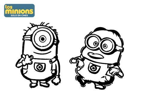 imagenes de minions enamorados para dibujar dibujo de minions carl y dave para colorear dibujos net