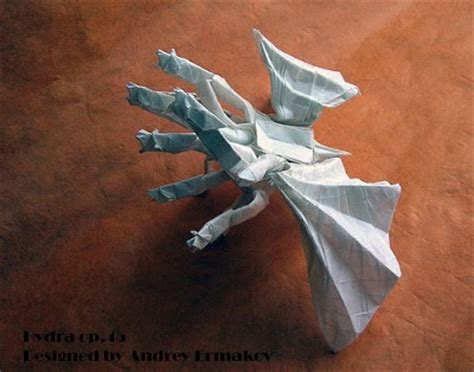 Origami Hydra - 20 awesome sci fi origami just pics