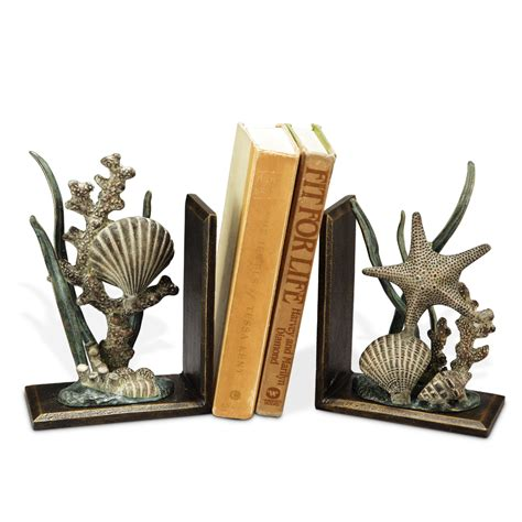 spi home decor shell bookends by spi home 80 you save 29 00
