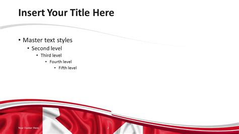 canada flag powerpoint template presentationgo com