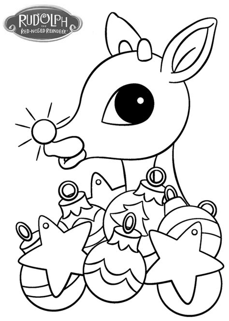 rudolph  christmas ornament coloring page