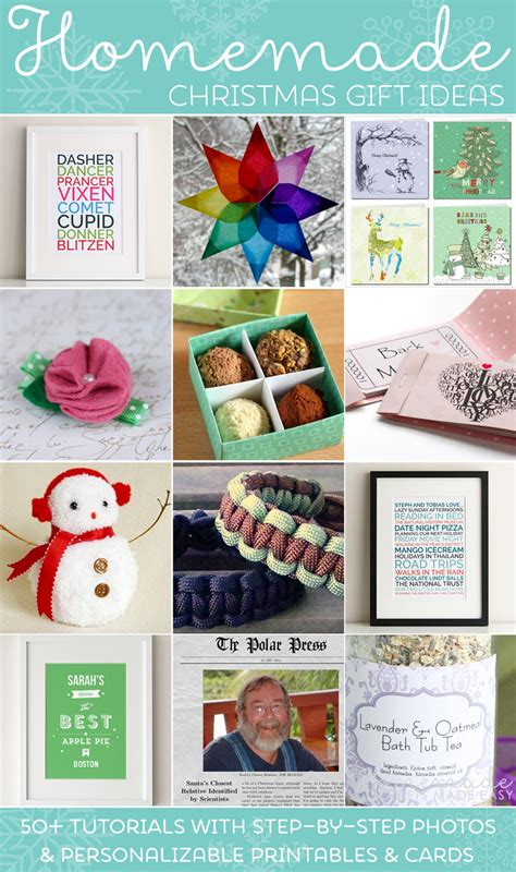 Easy Handmade Presents - easy gift ideas make inexpensive