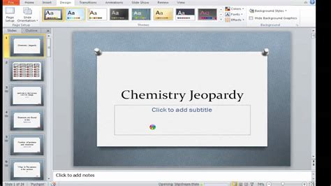 How To Make A Jeopardy Game In Powerpoint Youtube How To Make Powerpoint Jeopardy