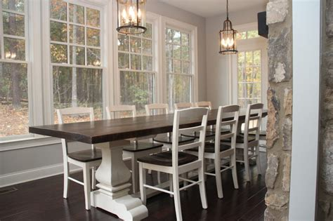 dining room farm tables quot josh leg quot pedestal base farm table farmhouse dining