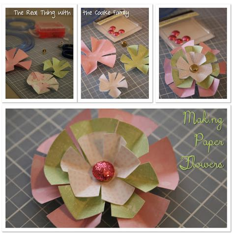Paper Flowers For Cards - paper flower birthday card tutorial the real thing