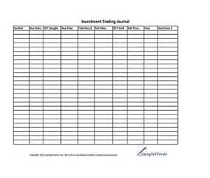 trading diary template investment stock trading journal spreadsheet journals
