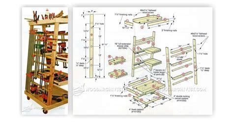 mobile clamp rack plans woodarchivist