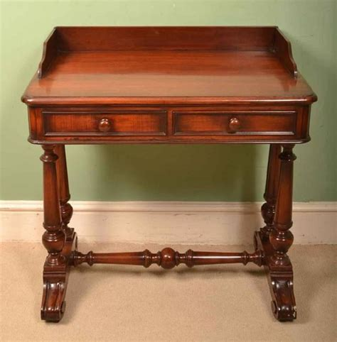 Small Antique Writing Desk Antique Small Mahogany Writing Table Circa 1860 At 1stdibs
