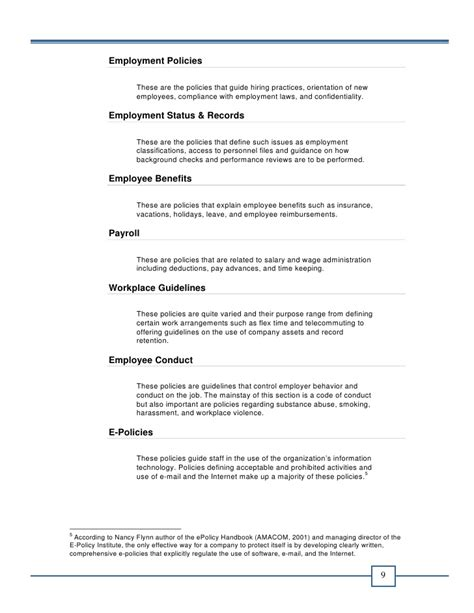 office and regulations template office policy manual e book