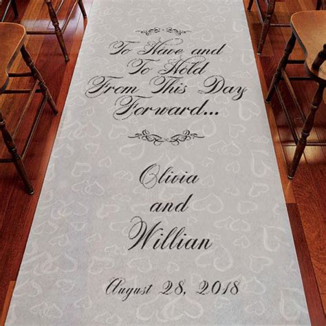 Wedding Aisle Runner Personalized by To And To Hold Personalized Wedding Aisle Runner