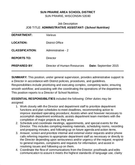 10 job description templates pdf doc free premium