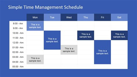 Week Schedule Powerpoint Template Slidemodel Schedule Template Powerpoint
