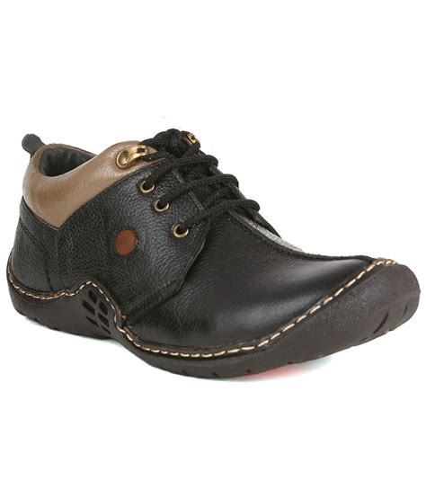 guava black leather casual shoes price in india buy guava