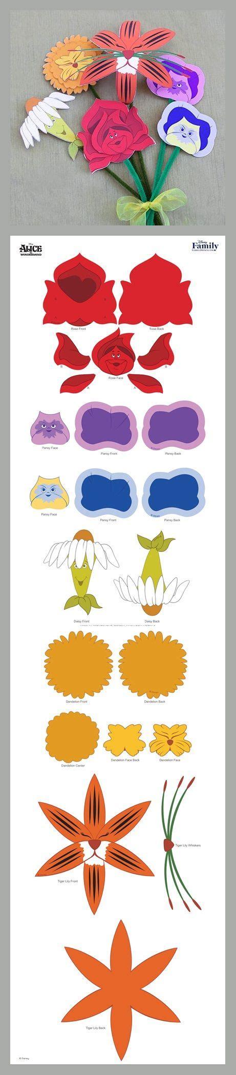 Printable Alice In Wonderland Flowers   alice in wonderland golden afternoon flowers disney