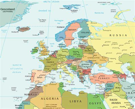 iceland map europe