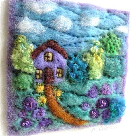 framed textile wall art embroidered embellished wool